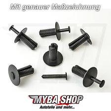 15 x parachoques clips befestigungsclips BMW SEAT MERCEDES Clips en Negro