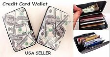 1 PC Accordion Credit Card Holder, Hard Case Security Credit Card & Money Wallet