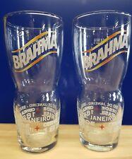 2x Brahma Brazilian beer Pint Glasses New lovely design