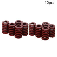 10Pcs 14mm OD Medium Press Load Mold Die Spring Stamping Compression Red
