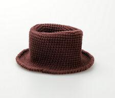Handmade Crochet knitting Baby Fedora Hat Photo Prop 0-6 month