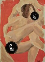 C. Walter Original Act acryl PinUp Nude sexy Fetish Erotic Art Drawing sexy
