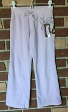 Justice Girls 7 Pale Pink Velour Sequin 04 Sweatpants Ribbed Waist Love Yourself