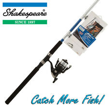 Shakespeare 8ft Spin Kit Fishing Rod, Reel & Tackle Box Combo 'Catch More Fish'