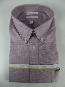 Roundtree & Yorke Gold Label Non Iron EZ Wash Dress Shirt NWT $75 Houndstooth