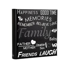 Slip In Memo Photo Album Holds 200 Photos 6x4'' Life inspirational slogans Cover
