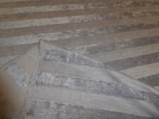 STEEL GREY - Striped Chenille Upholstery / Curtain Fabric - ONLY £5.99 per metre