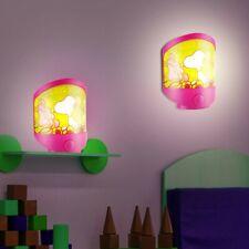 2er Set LED Snoopy Kinder Zimmer Wand Leuchten Baby Mädchen Tisch Big Light