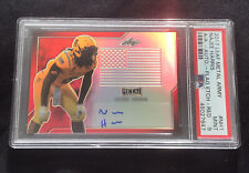 Najee Harris Leat Army All American Auto Red Flag #d /3 PSA Autograph Alabama
