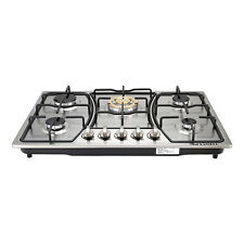 """30"""" Built In Gold Main Stove 5 Burners Stainless Steel Gas Hob Ng / Lpg Cooktops"""