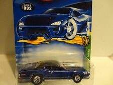 2002 Hot Wheels Treasure Hunt #2 Blue '71 Plymouth GTX w/Real Riders