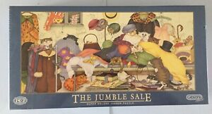 Linda Jane Smith 636 Piece Cat Jigsaw Puzzle. The Jumble Sale. Gibson New Sealed