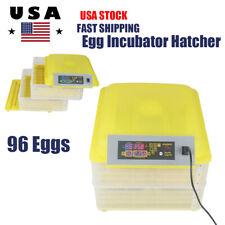 96 Digital Egg Incubator Hatcher Automatic Turning Chicken Temp Control Led Lamp