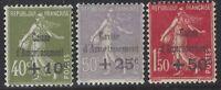 n°275 à 277 série caisse d'amortissement 1931 neuve* TB - Signés & Certificat