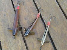 3 VINTAGE FISHING MINNOW LURES COLLECTORS TRADITIONAL ANGLING