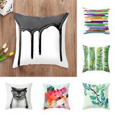 Stripe Leaves Sea Owl Pillow Case Sofa Bed Cushion Cover Home Car Decor Splendid