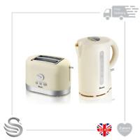 Swan 1.7 Litre Jug Kettle & 2 Slice Toaster Cream- Brand New