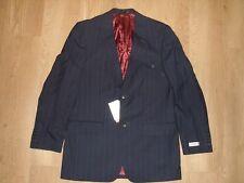 FARAH Herren Wollmischung Anzug Jacke Blazer Streifen schwarz weiß 46l hoch