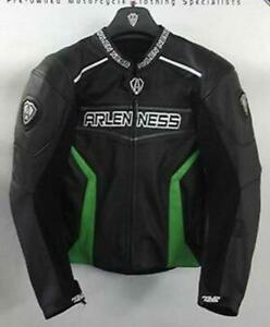 Arlen Ness Revolt Motorcycle Leather Jacket EU 52 UK 42 NEW Kawasaki Green