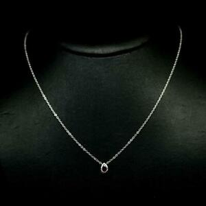 0.50ct Bezel Set Pear Pink Tourmaline Solitaire 925 Sterling Silver Necklace
