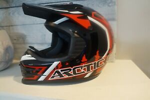 Arctic Hat Red Mx Helmet Youth Large
