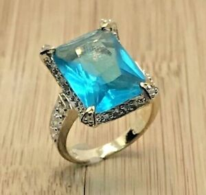 925 Sterling Silver Tourmaline Woman's Ring Size 7.5