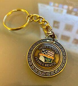 2000 100th U.S. Open Golf Keychain - Pebble Beach - Tiger Woods - FREE SHIP US