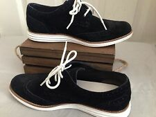 Cole Haan Lunargrand Black Suede Women's Lace Up Shoes Size 7.5 B Wingtip Oxford