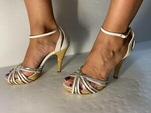 Sandalo Bianco Sexy -Tacco altissimo 39.Fetish -Cubista -Immagine