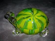 Murano Ann Primrose D'Arte Cristalleria Yellow / Green Glass Turtle-w/Label~Mint
