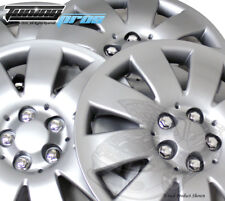 """4pc Qty 4 Pop On Wheel Cover Rim Skin Cover, 16"""" Inch #721 Hubcap Silver"""