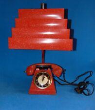 authentique lampe  electrique horloge /briquet 1950s.Americaine /decoration loft