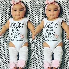 Newborn Infant Baby Girl Cotton Bodysuit Romper Jumpsuit Outfits Clothes 0-24M
