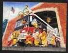 WARNER BROS WHERE ONE GOES WE ALL GO GICLEE PROMO CARD BUGS BUNNY FIREFIGHTER