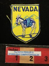 Vtg NEVADA JACKET PATCH ~ Pack Mule With Mountain Range In Background C633