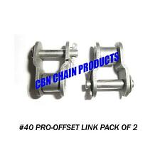 40 Offset Link Half Link, Go Kart, Mini Bike, Repair Link, Pack of 2