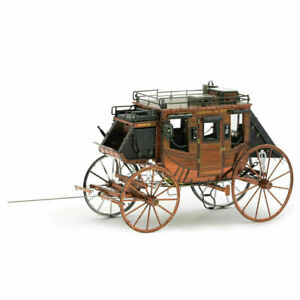 Fascinations Metal Earth Wild West Stagecoach Unassembled 3D Metal Model Kit NEW