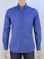 River Island mens size small blue long sleeve shirt