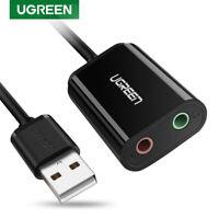UGREEN Adaptateur Audio USB Carte Son USB Externe vers 3,5mm Stéréo pour PS4 Mac