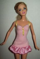 Barbie Pink Jersey knit Dress Satin Hem for Barbie & Friends Doll Clothing 11.5""
