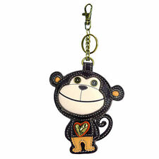 Chala Adorable Cute Monkey Key Chain Leather Bag Fob Charm Attachment