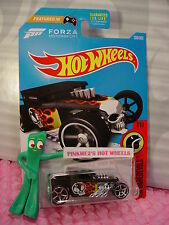 Forza BONE SHAKER #208☆Black; oh5;Chrome Skull☆DAREDEVILS☆2017 Hot Wheels☆Case J