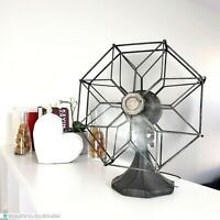 "Vintage Westinghouse 10"" Octagon Cage Rare Fan Style 699785 1930's - Collectible"