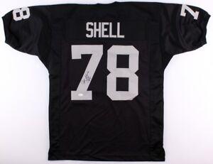 "Art Shell Signed Raiders Jersey Inscribed ""HOF -89"" (JSA COA) 8×Pro Bowl Tackle"