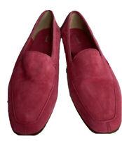 LK Bennett Women's Loafers Moccasins Flat Shoes Pink UK7 EU40 US9 AU9