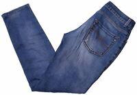 TRUSSARDI Womens Jeans W25 L29 Blue Cotton Slim  W210