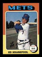 1975 Topps #324 Ed Kranepool NM/NM+ Mets 504367