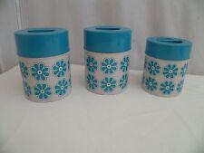 collection vintage 1970'S 3 pots à épices en tôle lithographiée