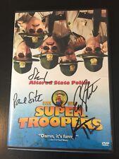 Super Troopers Signed DVD Kevin Heffernan Paul Soter Steve Lemme Eric Stolhanske