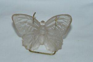 Vintage 1996 Boyd Art Glass Katie the Butterfly Figurine #29 Crystal EUC